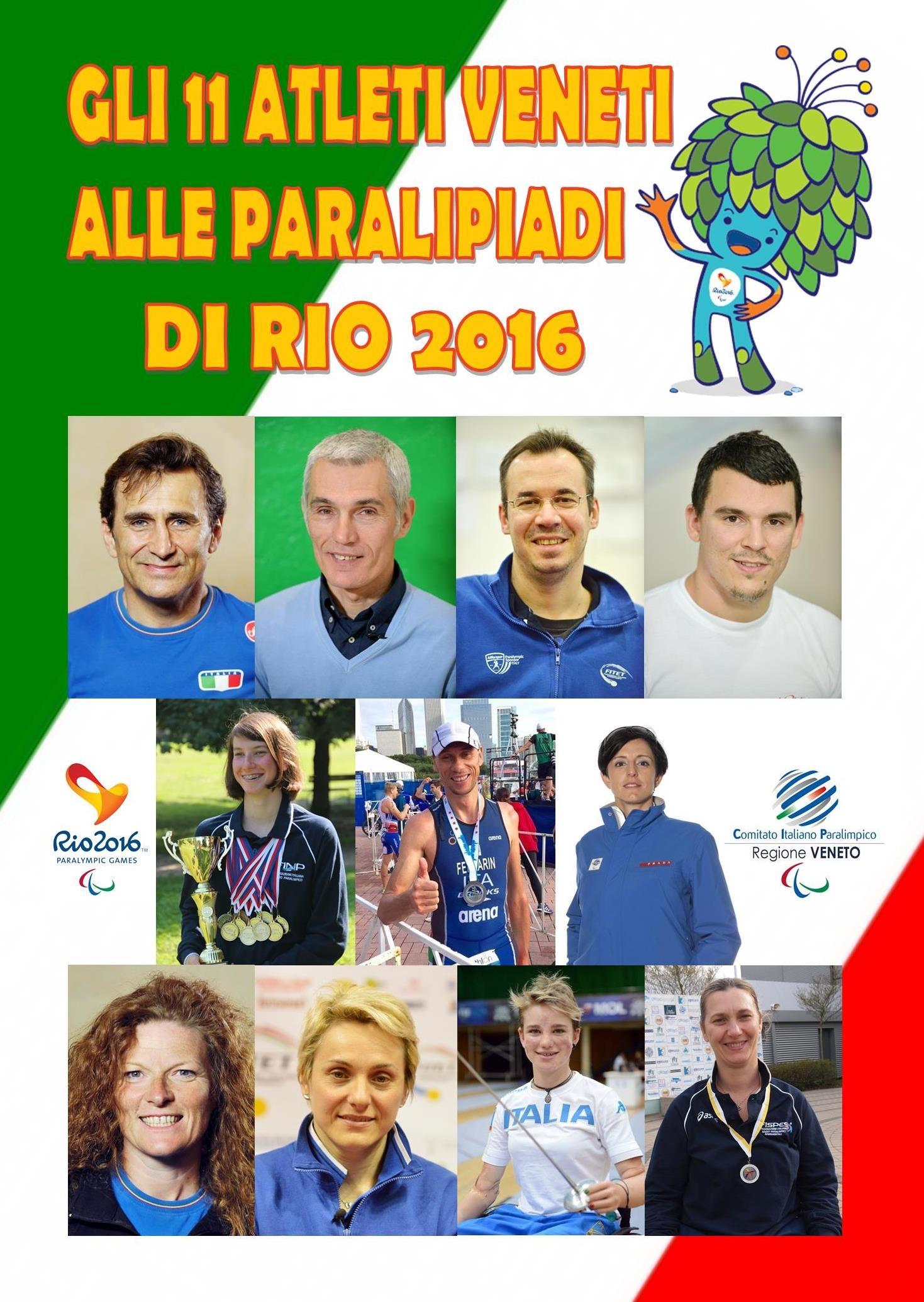 ... Rio 2016. GLI 11 VENETI ALLE PARALIMPIADI 4cc1c8213d0